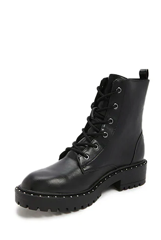 Forever 21 Studded Combat Boots. Wear