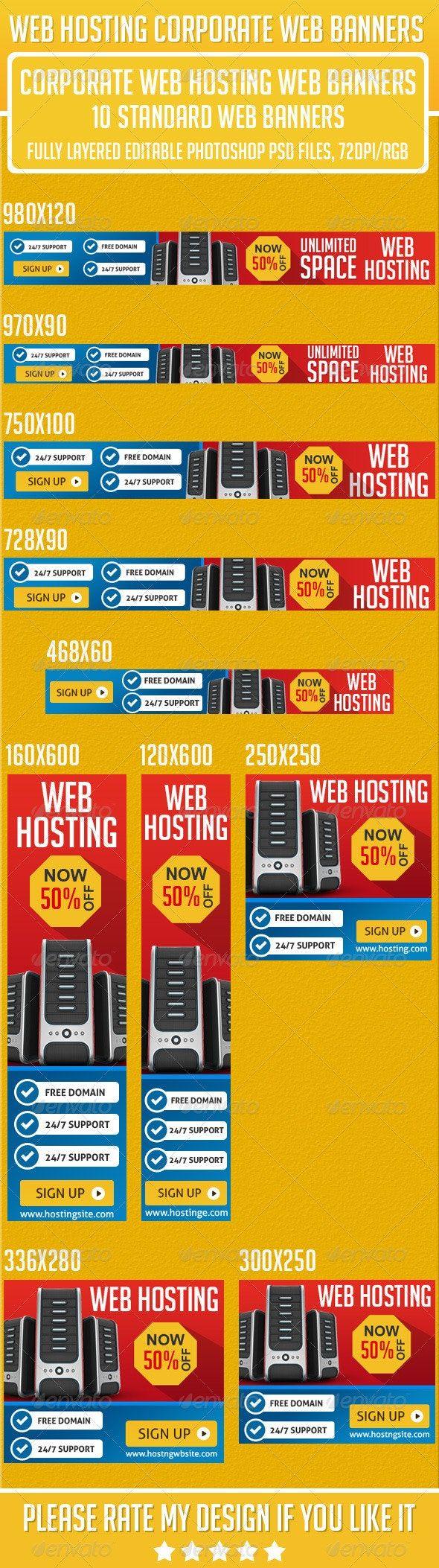 Web Hosting Banner Set