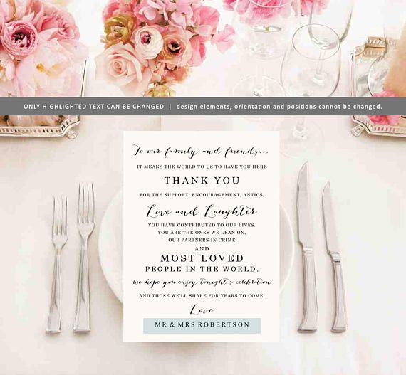 Instant Download Wedding Thank You Card - Thank You Wedding Card