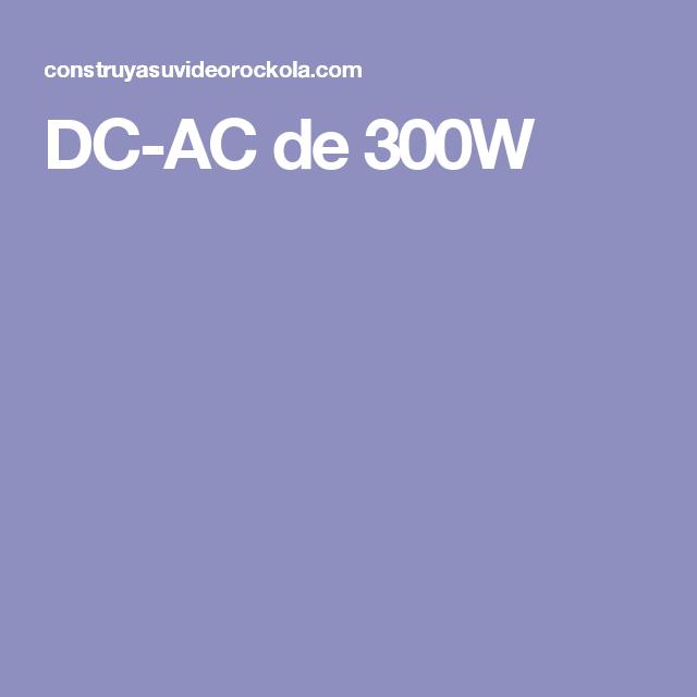 DC-AC de 300W