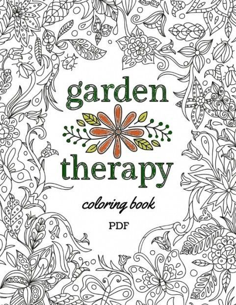 Garden Therapy Coloring Book Hometalk Gardening