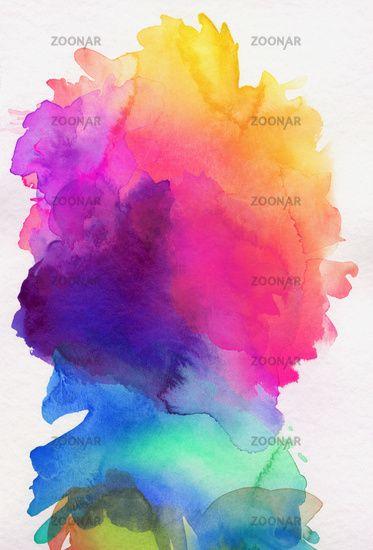 Aquarell Regenbogen Abstrakt Verlauf Aquarell Muster Aquarell