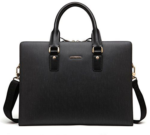 b1069cb33232 BOSTANTEN Leather Lawyers Briefcase Shoulder Laptop Business Bags ...