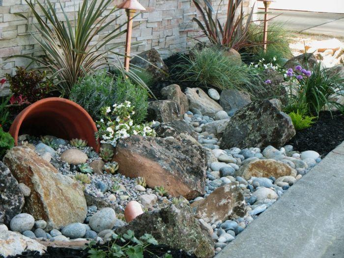 ▷ Gartengestaltung mit Steinen - Einen wervollen Garten schaffen