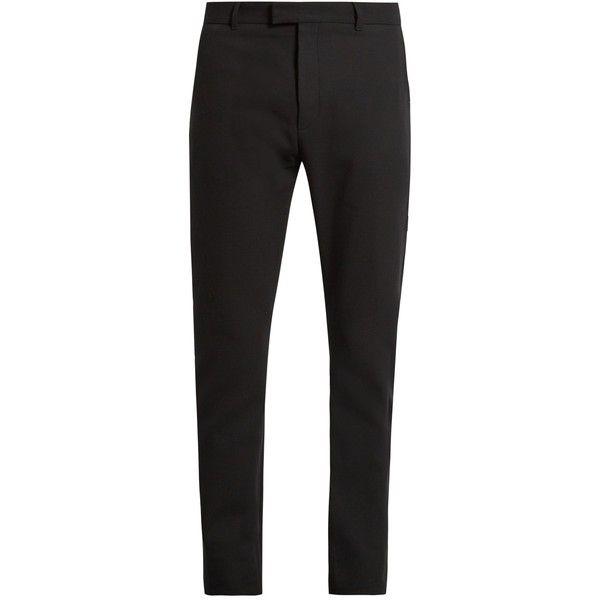 Balmain Slim Fit Satin Striped Cotton Tuxedo Trousers 1 200 Brl