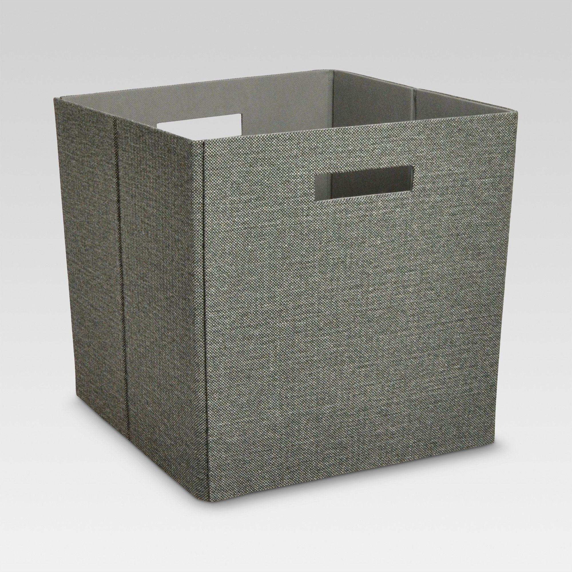Fabric Cube Storage Bin Dark Gray 13 - Threshold in 2019 ...