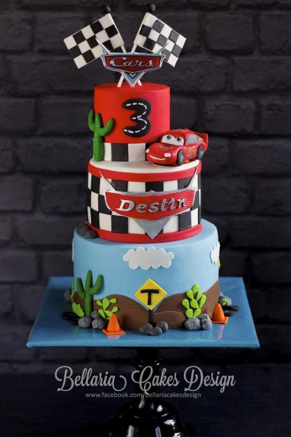 Cars birthday cake cars Pinterest Birthday cakes Birthdays