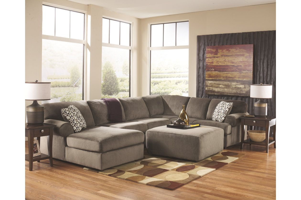 Sensational Jessa Place 3 Piece Sectional With Ottoman Ashley Alphanode Cool Chair Designs And Ideas Alphanodeonline
