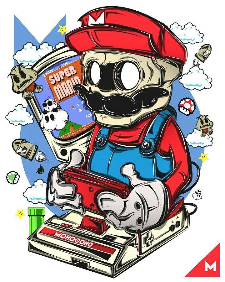 Vector Serigrafia Mario … Kartun, Desain produk, Animasi
