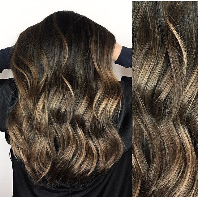 Brunette balayage and ombre