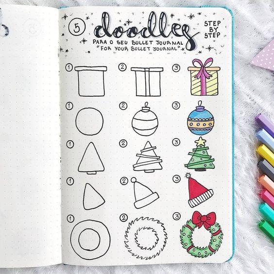 15 Christmas Doodles For Your Bullet Journal Doodles De Natal
