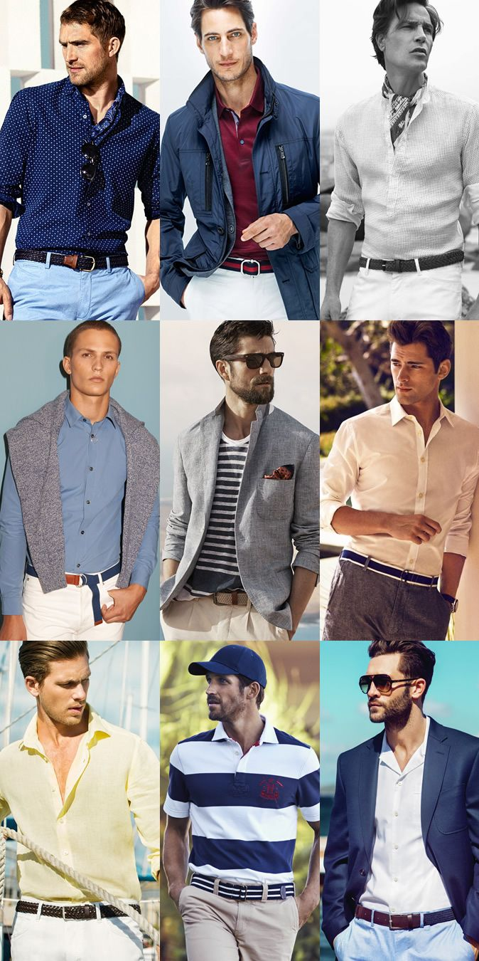 a6cec0a2e2 Men s Summer Nautical Style  Leather and Canvas Accessories Outfit  Inspiration Lookbook