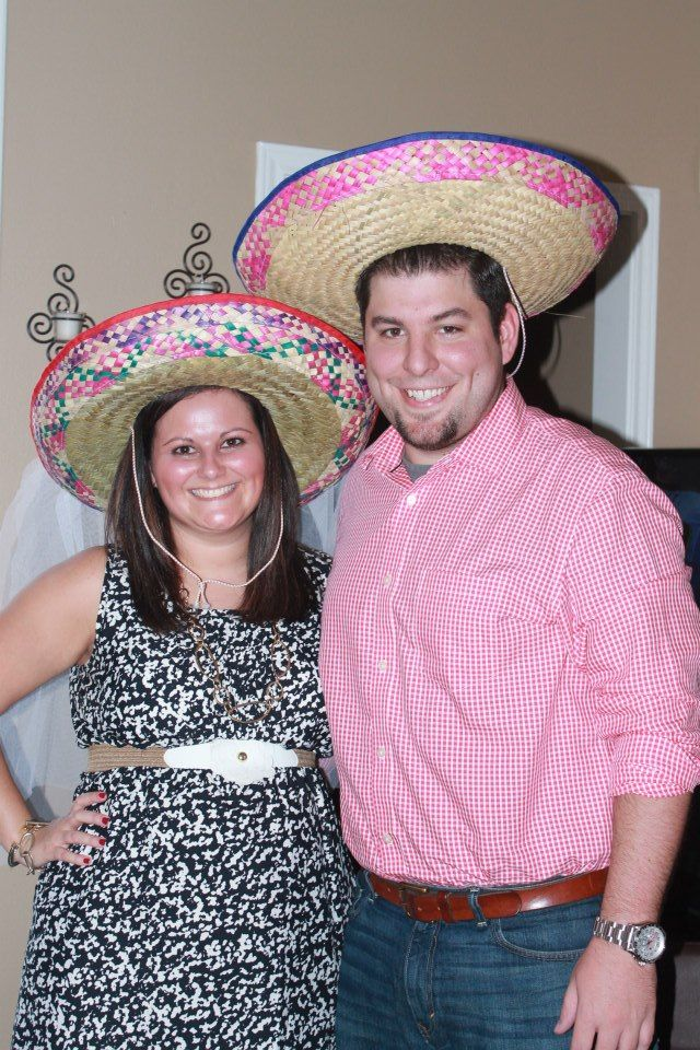 games to play at couples wedding shower%0A Fiesta Couples Shower  Sombrero with veil