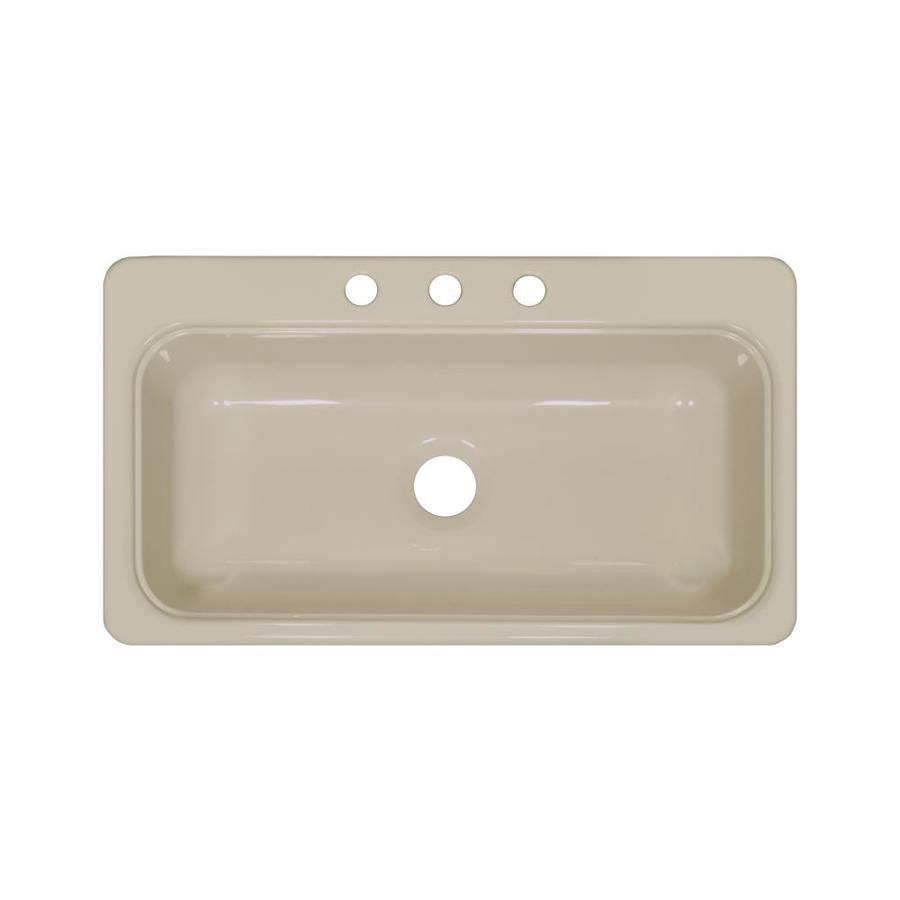 lyons style sb 19 in x 33 in almond single basin basin acrylic drop rh pinterest com