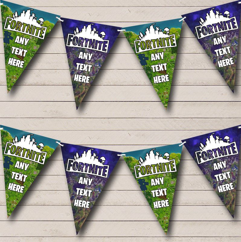 Banners Bunting And Garlands 77517 Fortnite Maps Personalized Birthday Party Bunting Banner Garland Flags Buy It Party Bunting Party Banner Bunting Banner