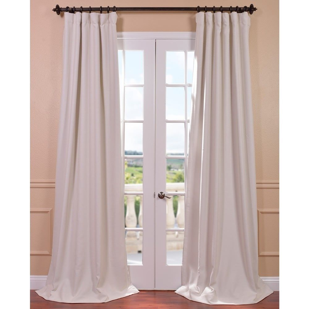 Cottage Bedroom Curtain Ideas: Cottage White Bellino Single Panel Blackout Curtain