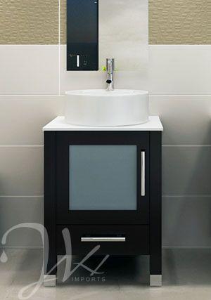 23 7 Mini Lune Single Vessel Sink Vanity Small Vanity Sink