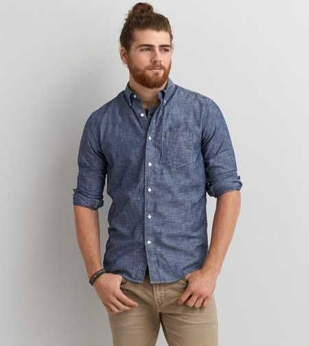 AEO Chambray Button Down Shirt | The Summer Man (Style   Fashion ...