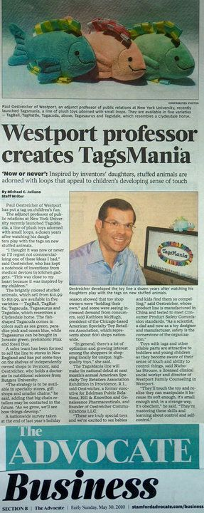 We got some nice media coverage in the Stamford (CT) Advocate.
