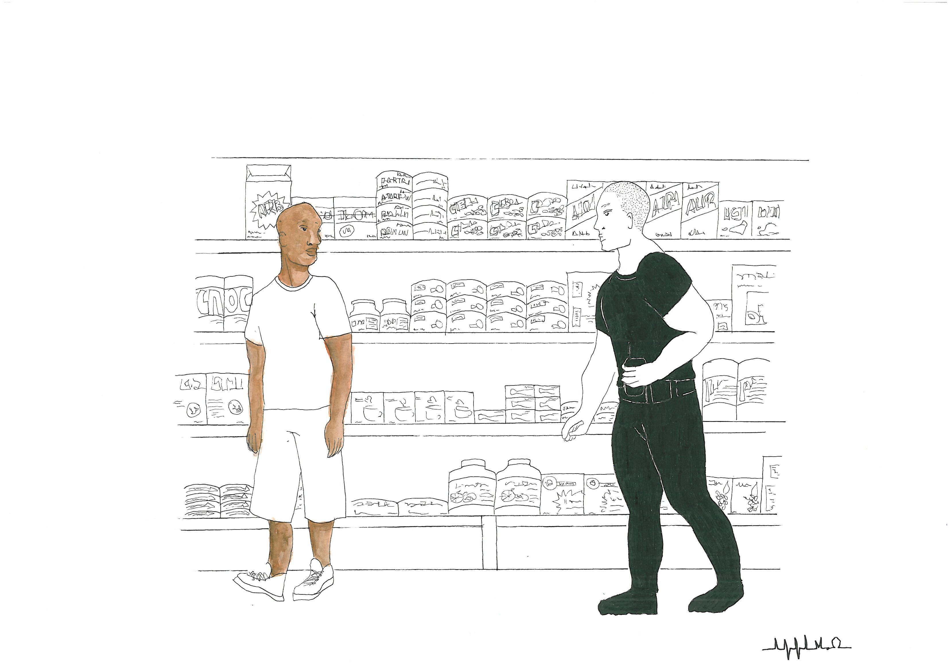 Série O que não é branco ● ANNA M.O #drawing #draw #desenhando #desenho #illustration #nanquim #artwork #art #aquarela #watercolor #racism #racismo