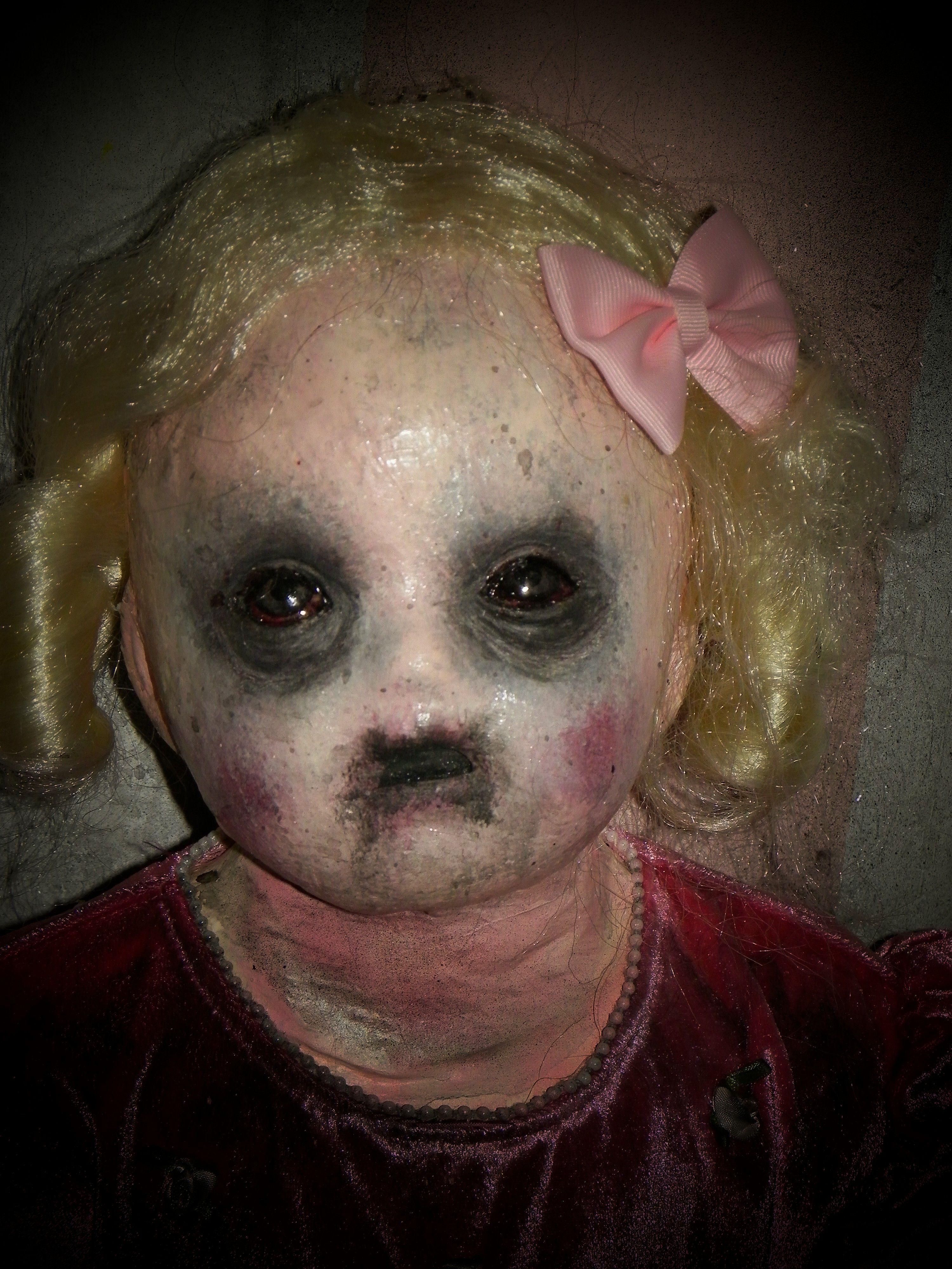 creepy baby doll for haunted nursery | halloween | pinterest