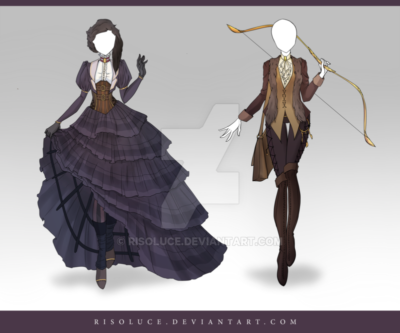 (CLOSED) Adoptable Outfit Auction 114 - 115 by Risoluce.deviantart.com on @DeviantArt
