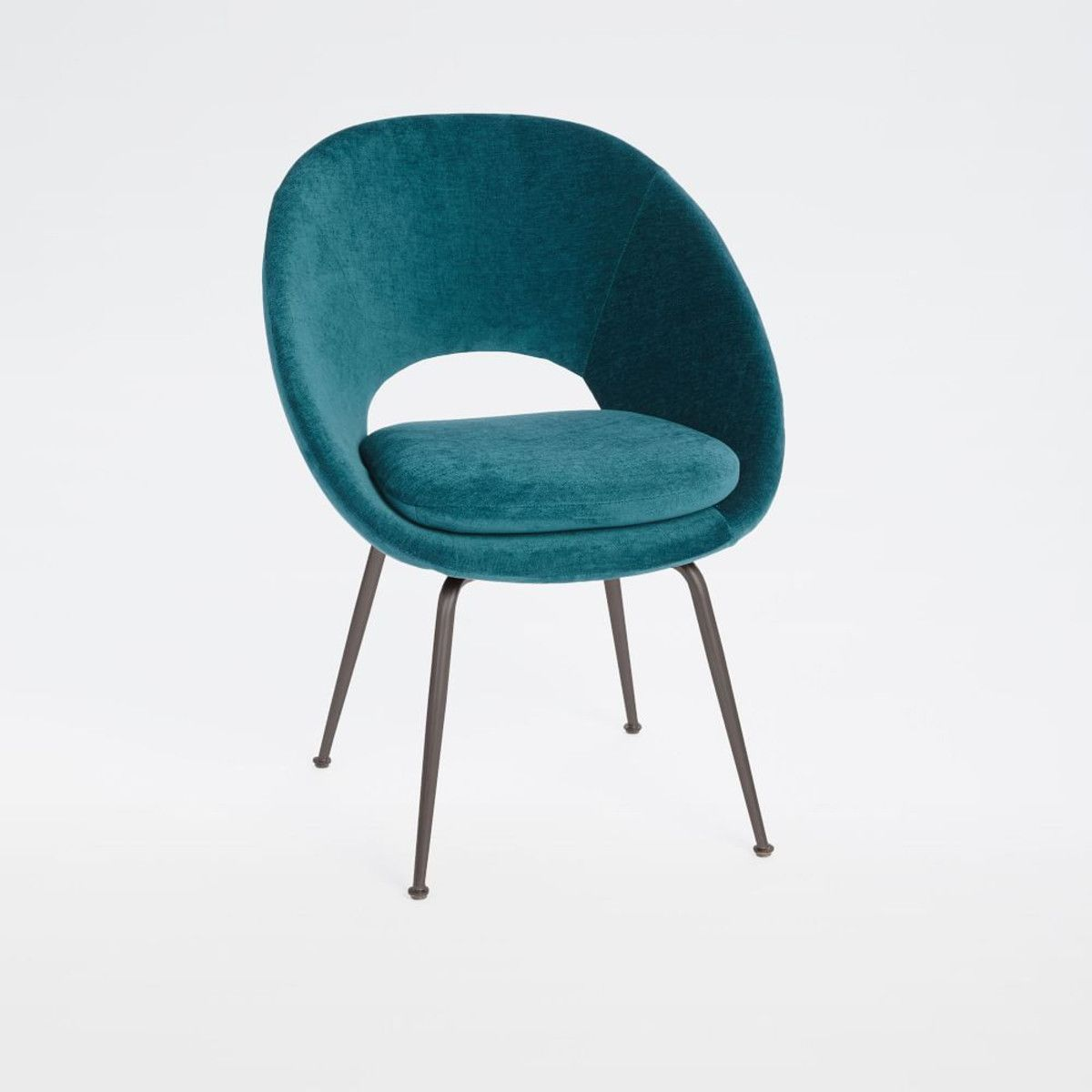 Orb Velvet Dining Chair Peacock In 2019 Mid Century