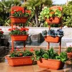 I am a patio gardener. With my work schedule it is no longer possible to tend a full scale garden.    I love these stackable planters that make...