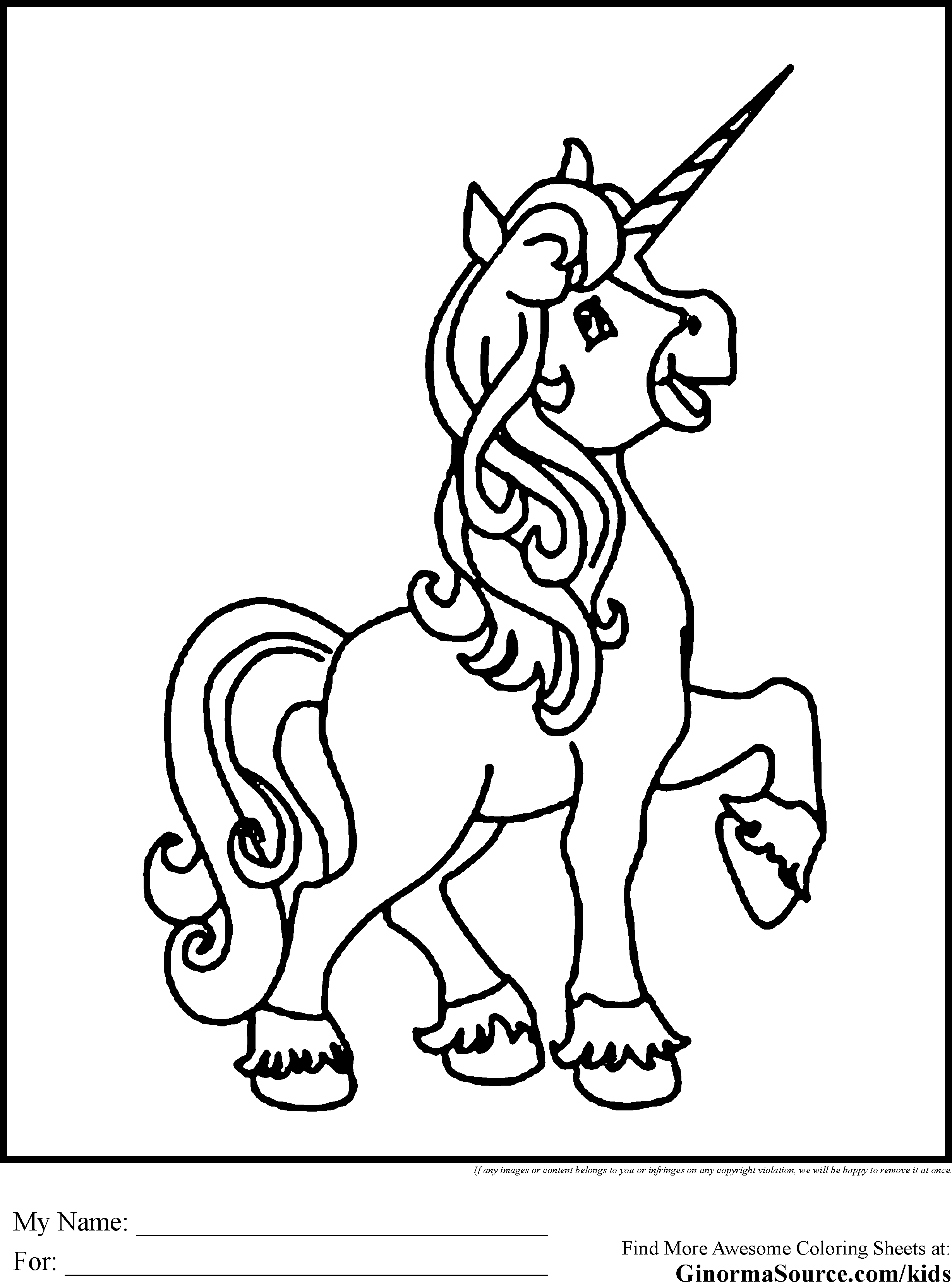 Unicorn Coloring Pages (With images) | Unicorn coloring ...