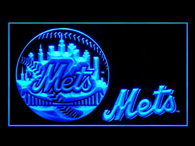 5c96b26fd New York Mets Baseball Script Display Shop Neon Light Sign