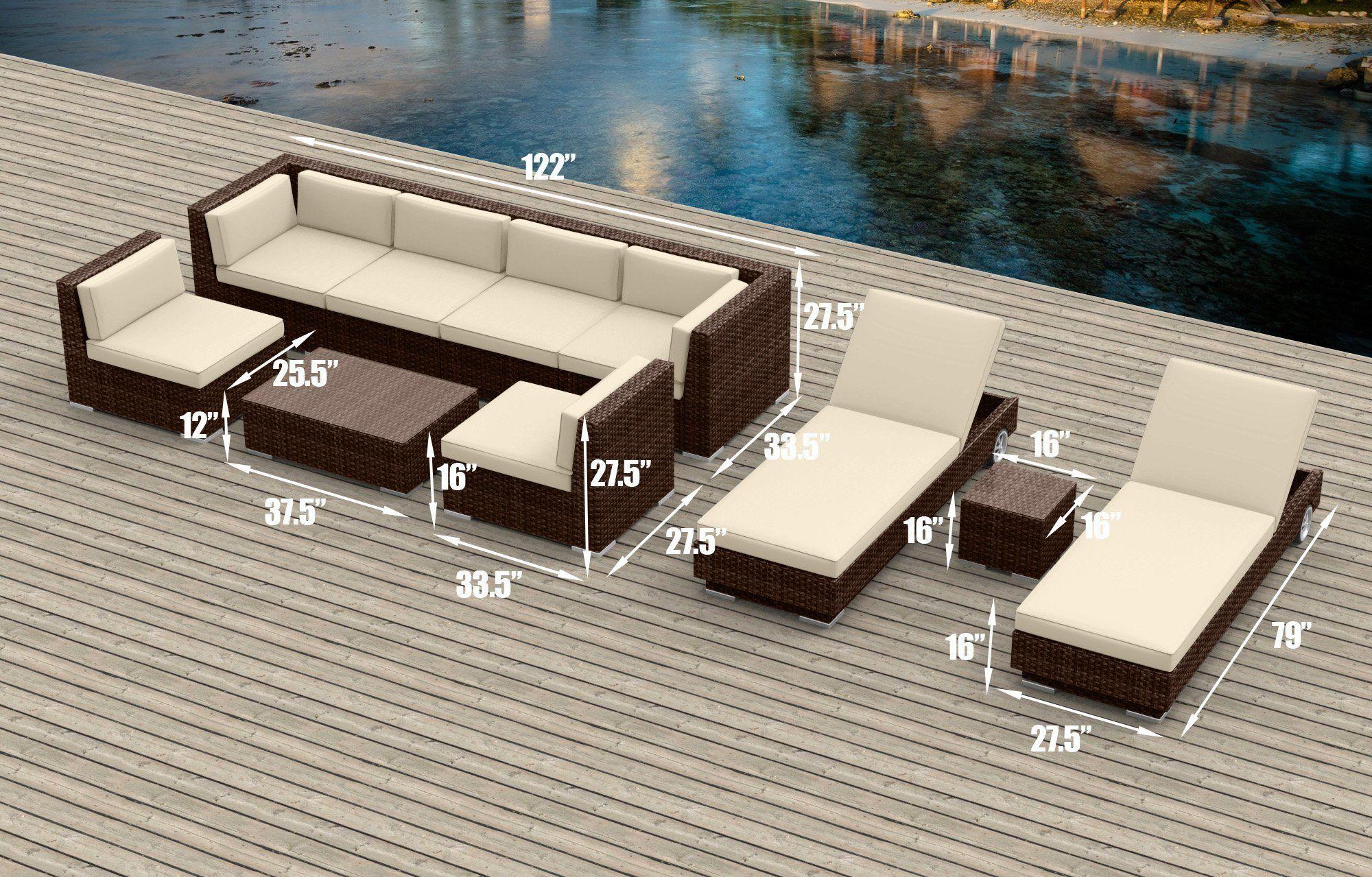 urban furnishing net brown series 19 piece outdoor dining and sofa rh pinterest com