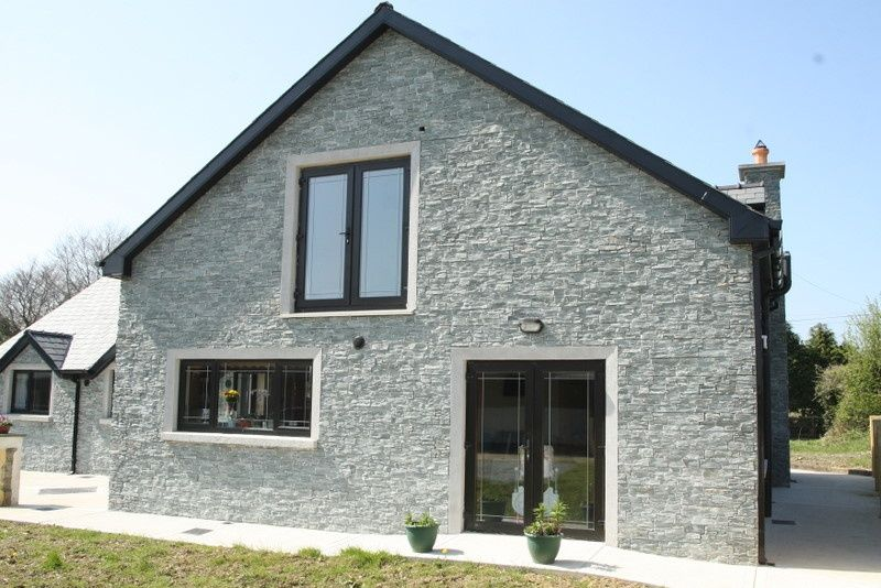 exterior cladding design slate cladding used to create an affect on house exterior - Slate House Design