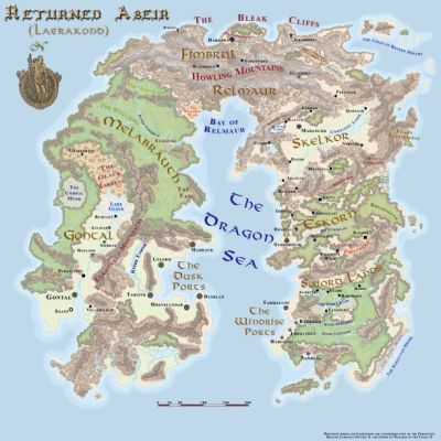 Map Of Cormyr Forgotten Realms Fantasy World Map Dnd World Map Fantasy Map