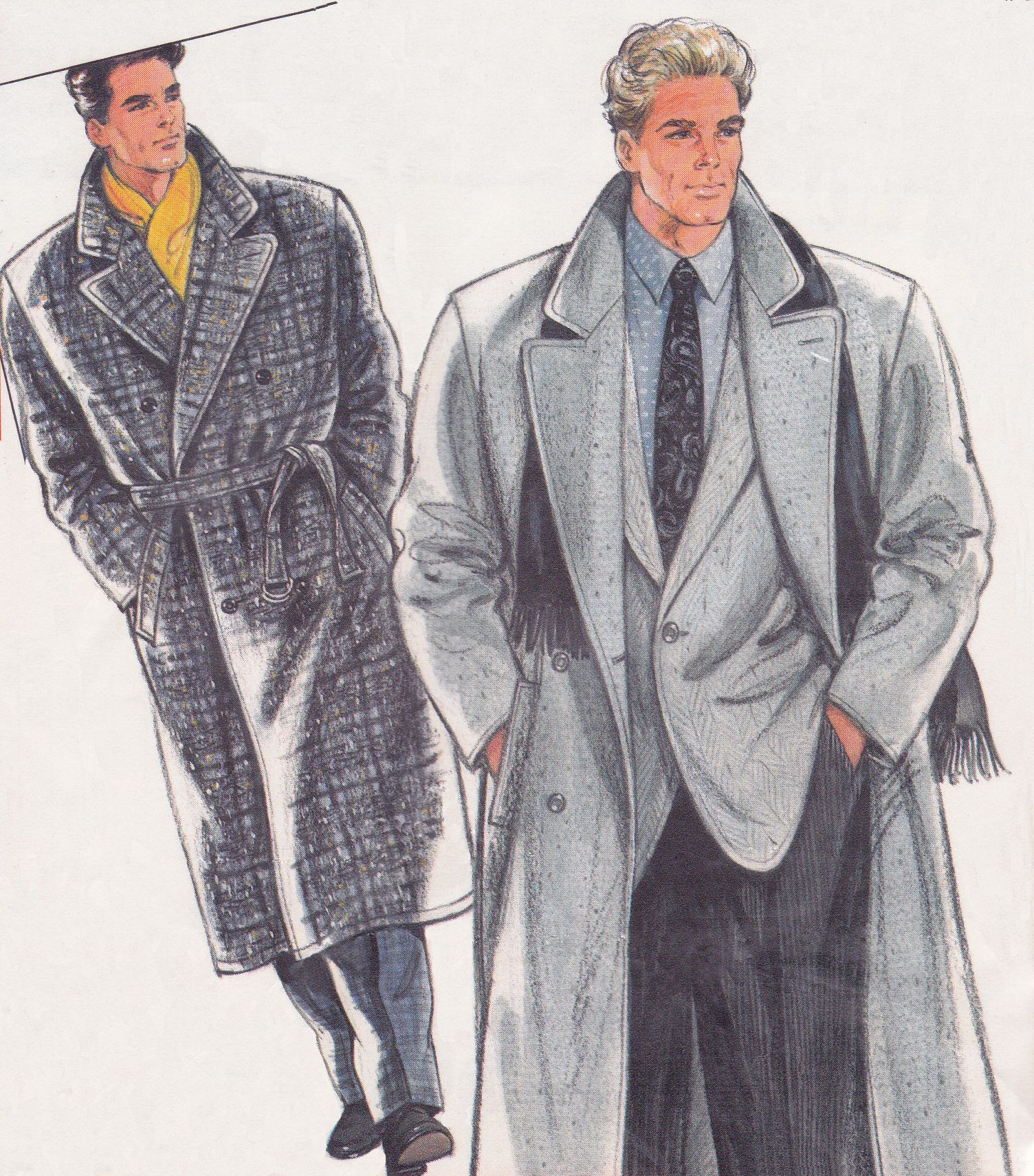 1980\'s Men\'s Coat from Burda Patterns #6201 | Men\'s Vintage Sewing ...
