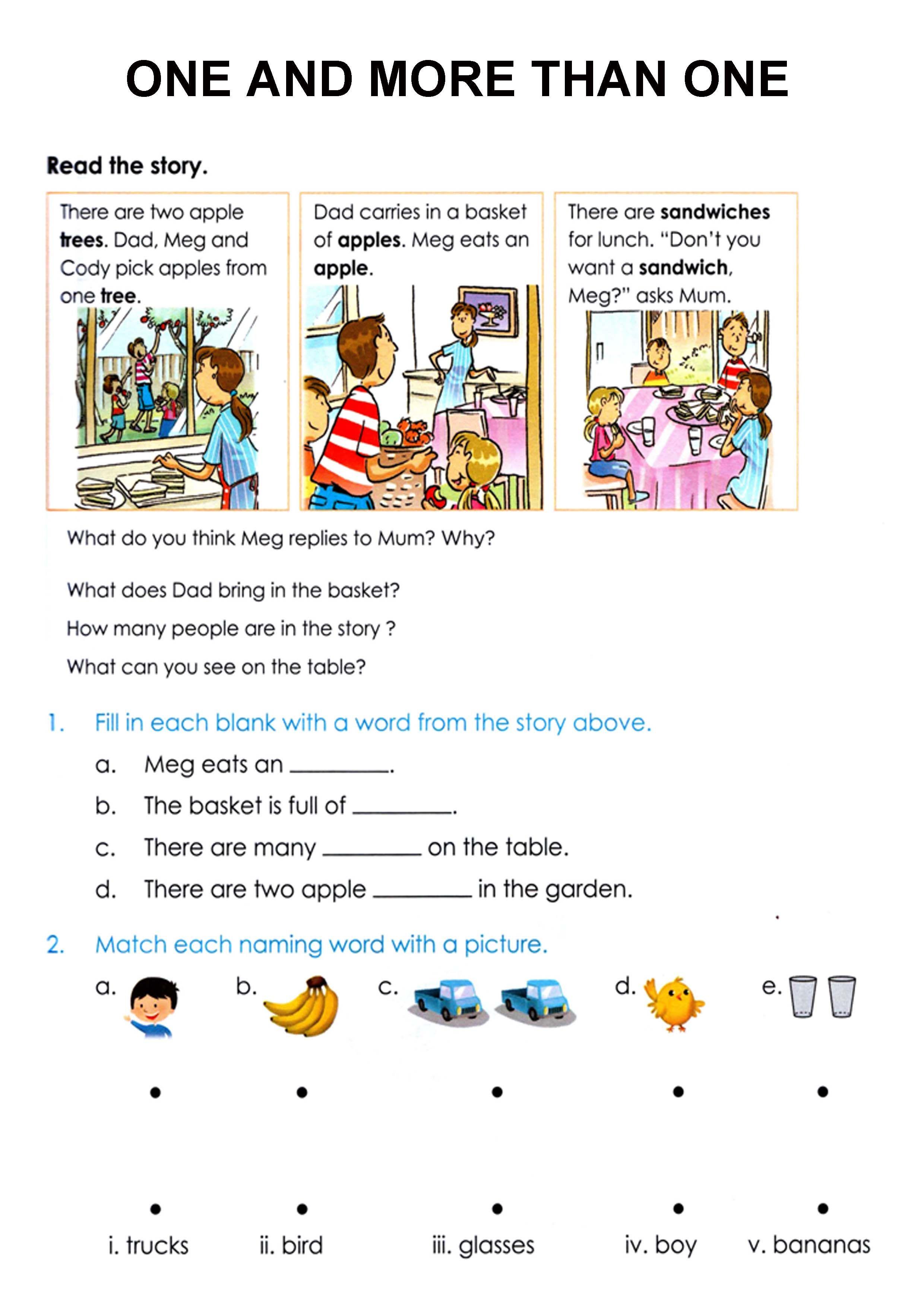 English Worksheet Nouns