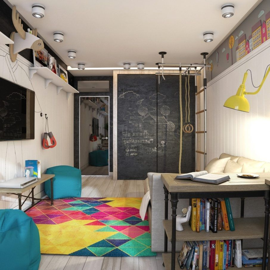 Teenage Bedroom Teen Room Ideas With Geometric