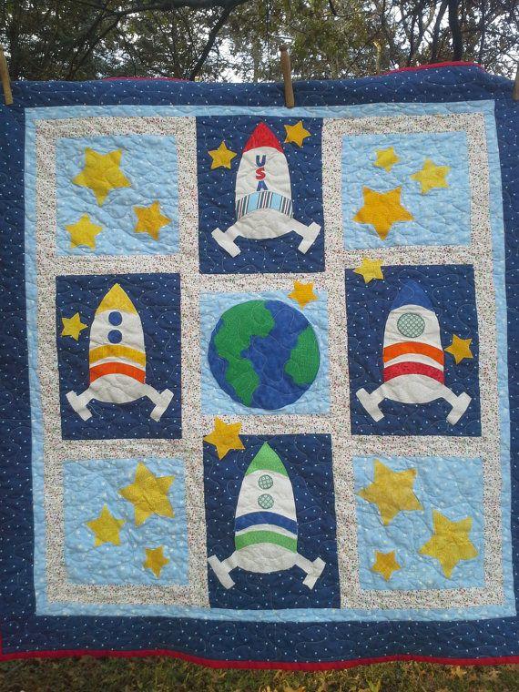 Space Bedding, Custom Boy Bedding, Crib, Toddler bedding ...