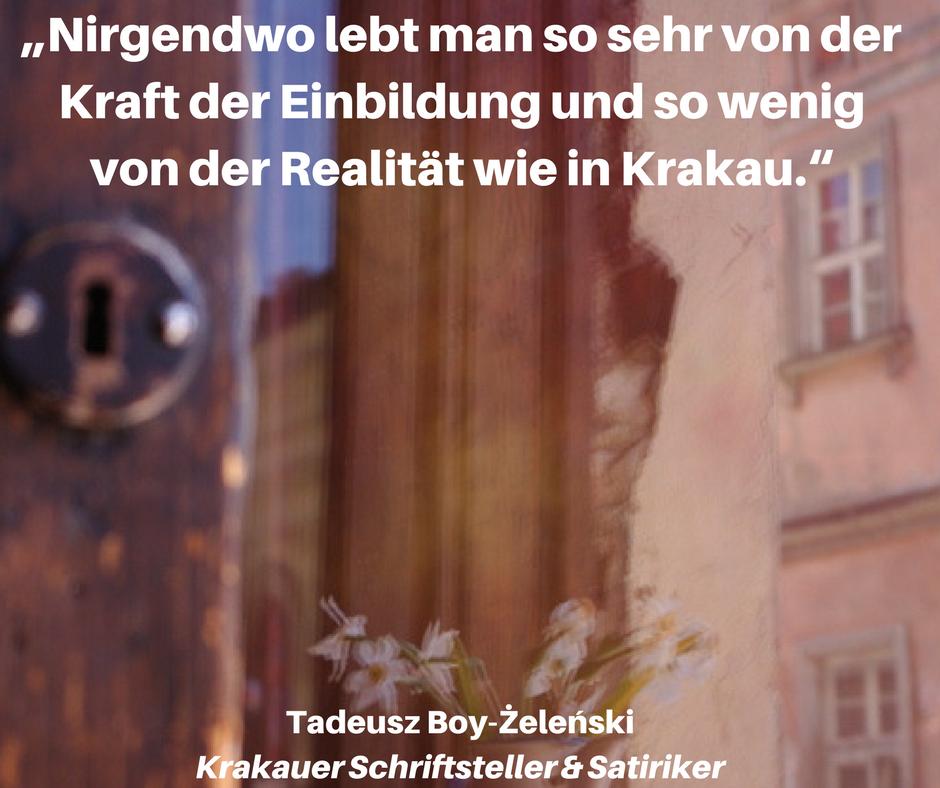 Krakau Zitat Stadtführung Tour Städtereise Polen Atmosphäre Flair