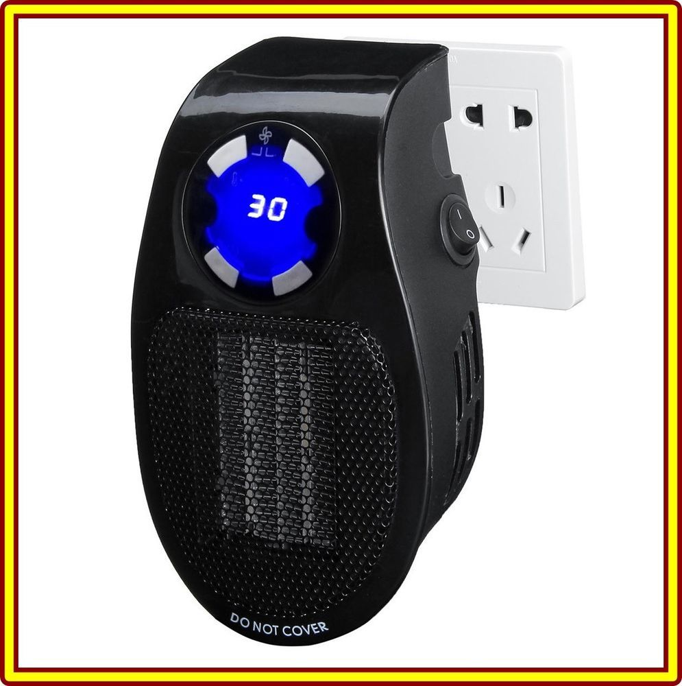 Mini Electric Heater Fan WallOutlet Electric Heater Air H