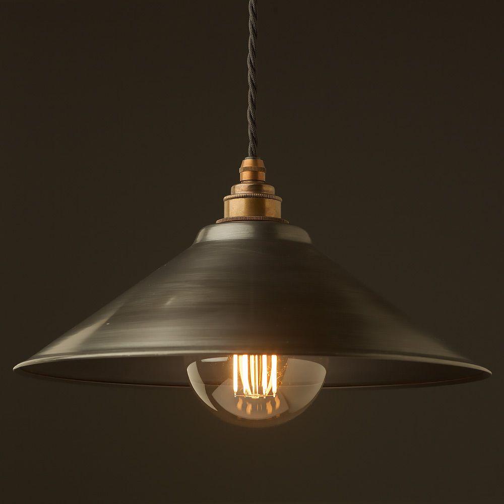 Rustic steel light shade 12mm Pendant   Steel lighting, Metal ...