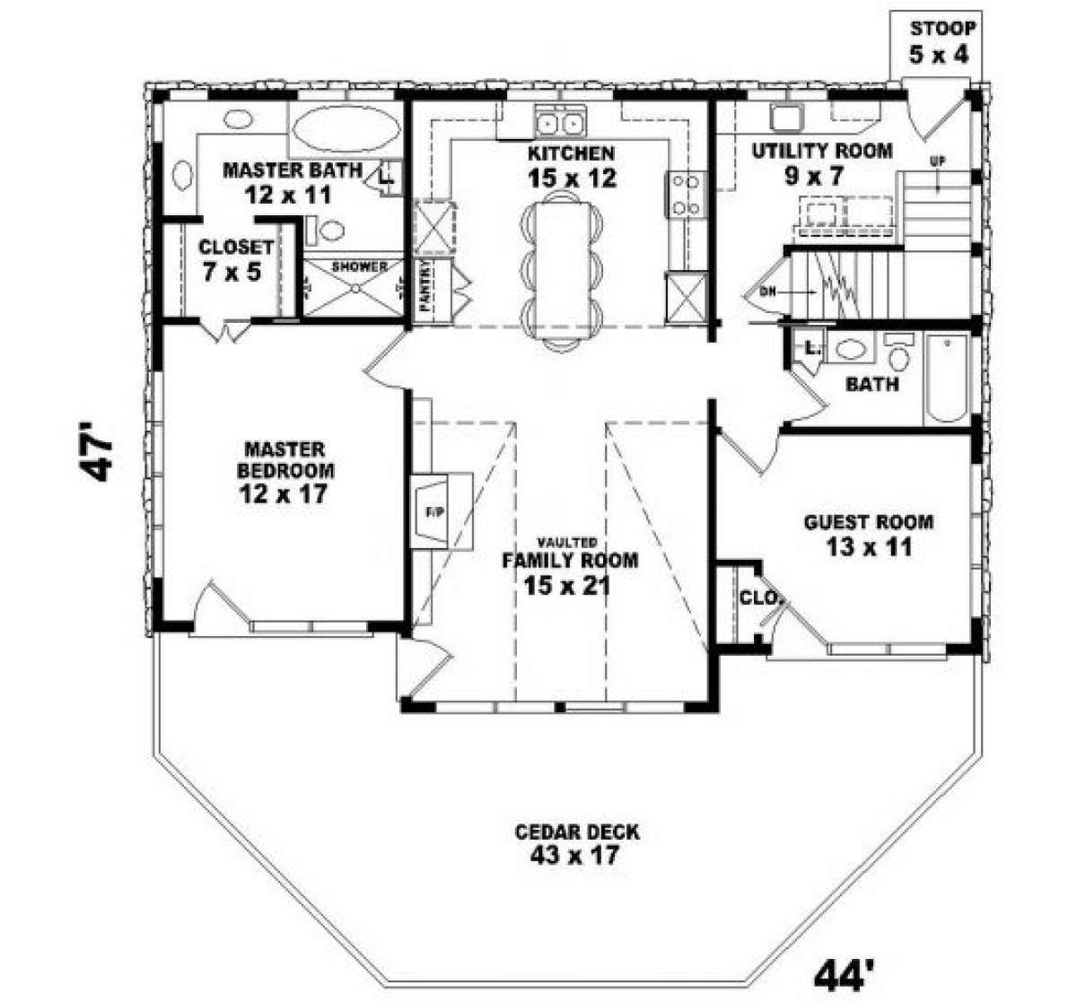 House Plan 053 00212 Cabin Plan 1 280 Square Feet 3 Bedrooms 3 Bathrooms In 2020 Basement House Plans Country Style House Plans Bedroom House Plans