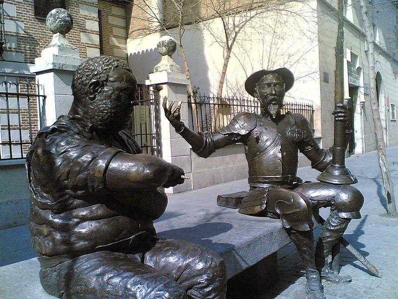 Una Escapada A La Ciudad De Cervantes En El Día Del Libro Loff It Alcala De Henares Estatuas Miguel De Cervantes