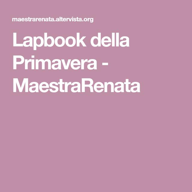 Lapbook Della Primavera Maestrarenata Lapbook Pinterest