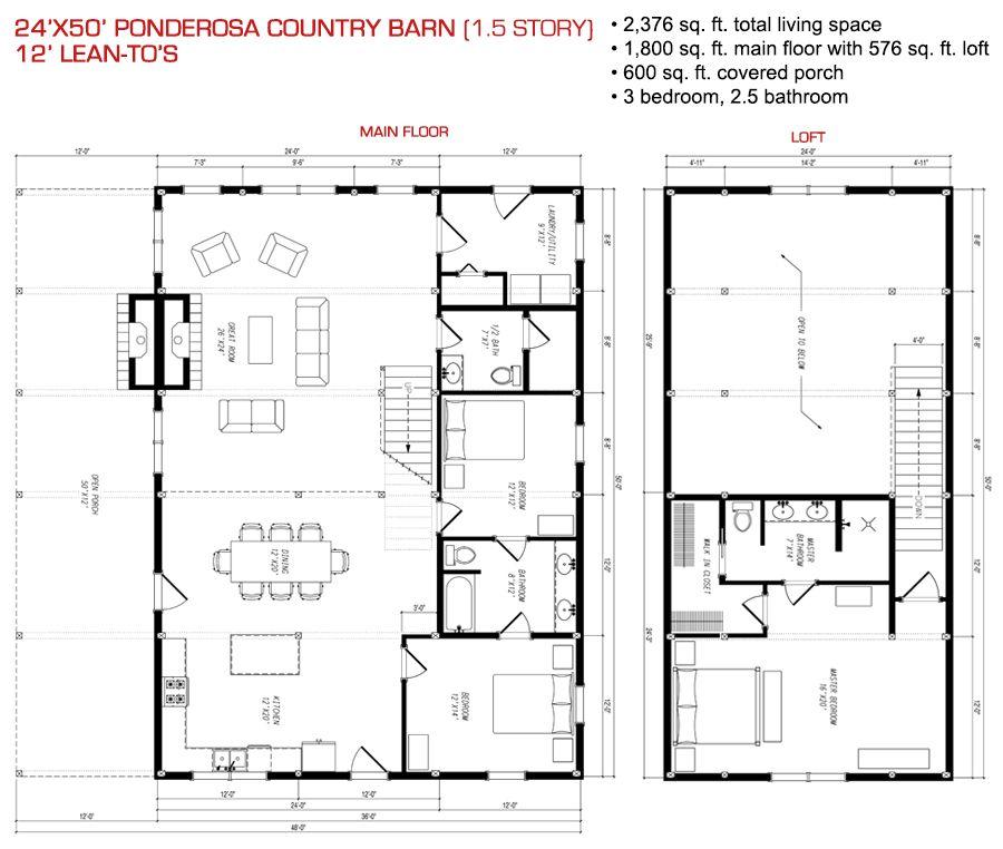 Pre-Designed Wood Barn Home, Horse Barns & Gambrel Kits