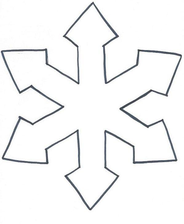 Mejores 7 Imgenes De Plantillas Copos De Nieve Para