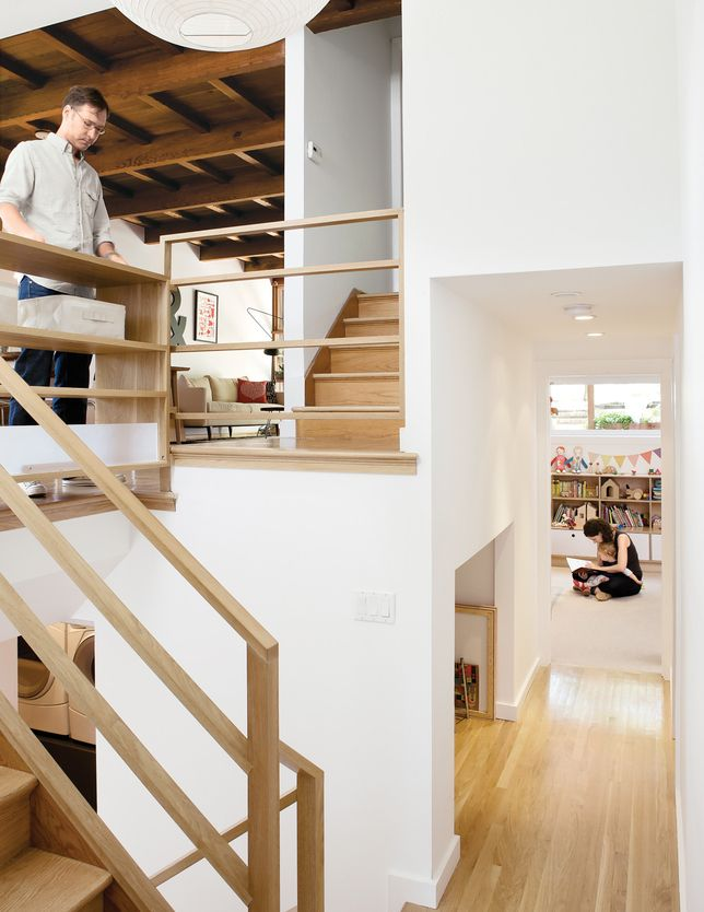 home interior design stairs%0A     Lorena Siminovich and Esteban Kerner  transformed this multilevel   midcentury maze into a modern and efficient family home in just three  months