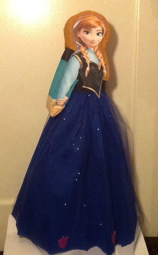 Anna frozen piñata. Frozen piñata. Piñata de frozen. por aldimyshop