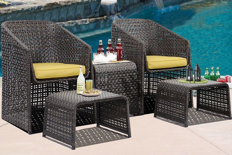5pc rattan garden furniture set things to buy pinterest rattan rh pinterest co uk