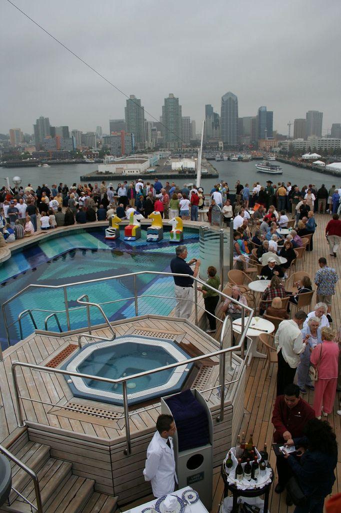 Lido Seaview Pool (Aft) -- People Gathered