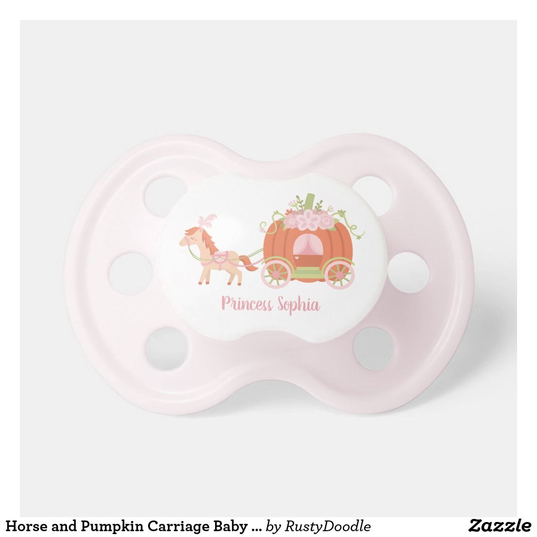 Horse And Pumpkin Carriage Baby Girl Princess Pacifier